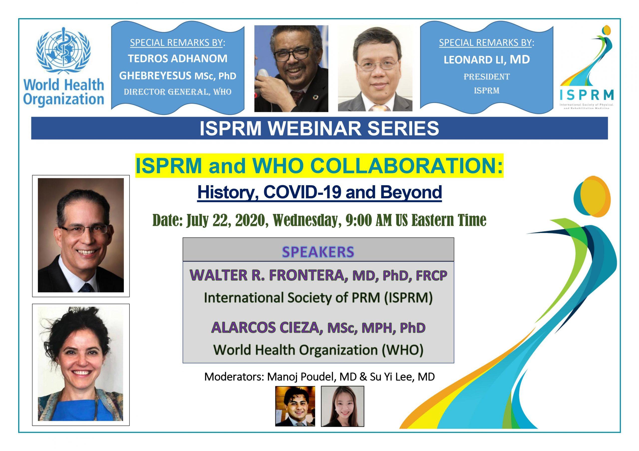 ISPRM Webinar flyer