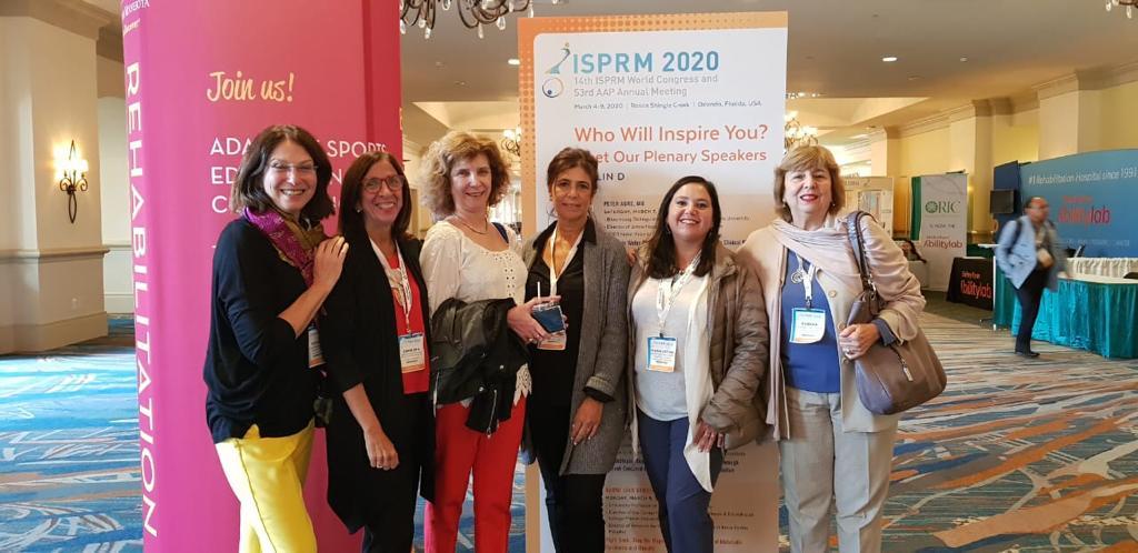 Susana Gagliardi and colleagues at the ISPRM 2020, in Orlando USA