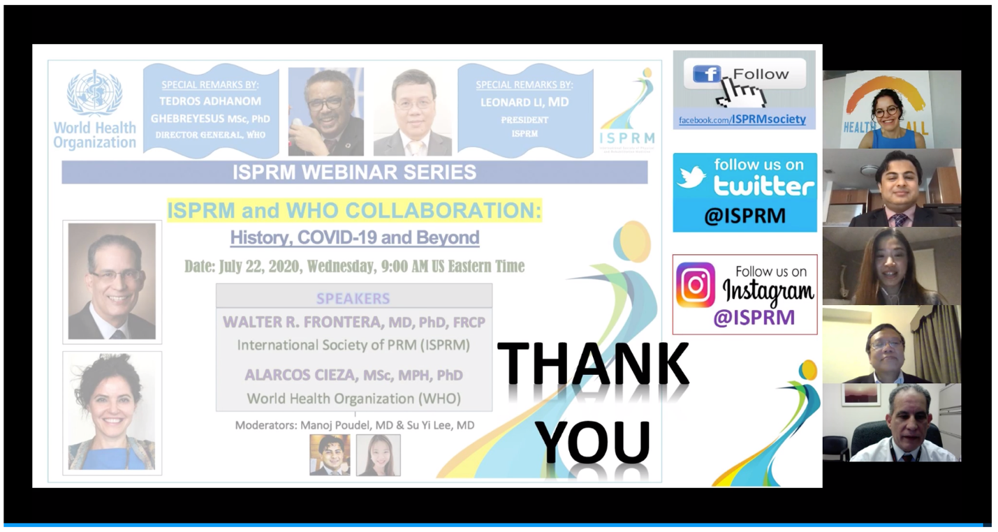 ISPRM-WHO webinar picture